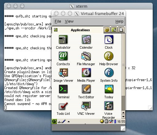 Mac OS X tools for Qtopia